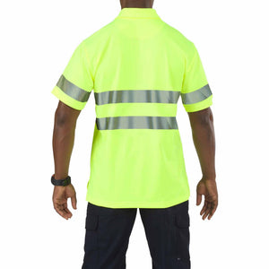 5.11 Tactical 41007 Men High-Visibility Short Sleeve Polo High-Vis Yellow - X-Small
