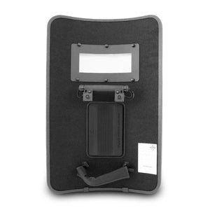 "SecPro Peacekeeper Level IIIA Ballistic Shield w/ Viewport, Light & Strobe - 24"" x 36"" - Rear"