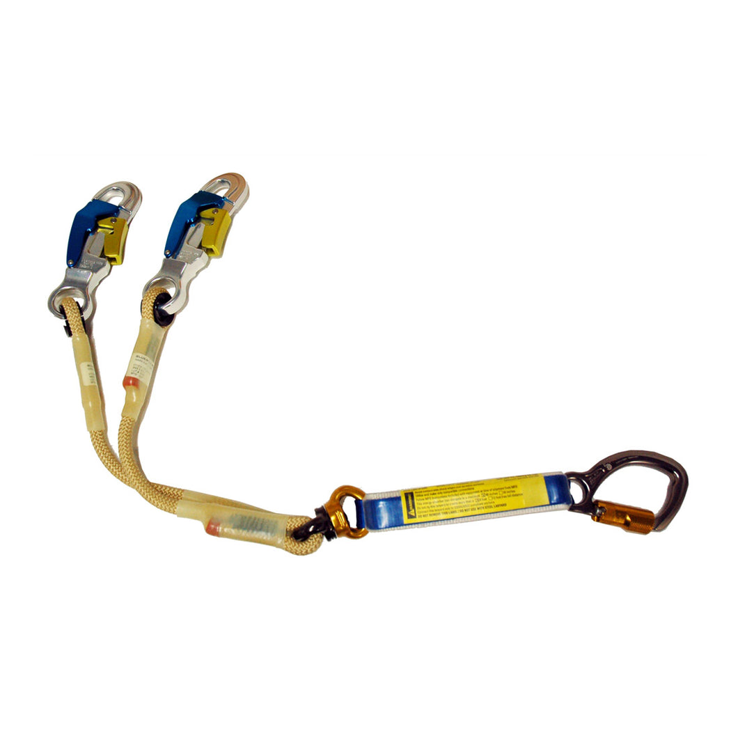 Yates BPA01A NEW 100% Tie Off Aluminum Step Bolt Hook Lanyard. w/6ft. Free Fall Potential