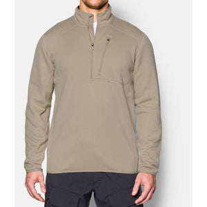 Under Armour 1262441 Storm TAC ¼ Zip Men's Tactical Long Sleeve - SM - Desert sand