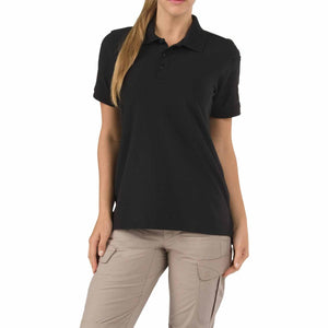 5.11 Tactical 61173 Women's Utility Short Sleeve Polo Black