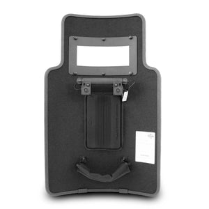 Tactical Entry Shields | SecPro Hero Ballistic Shield w/ Viewport & Light - Rear