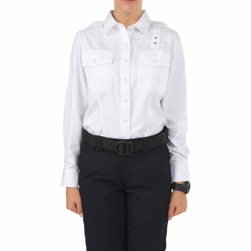 5.11 Tactical 62064 Women's Twill PDU Class-A Long Sleeve Shirt White