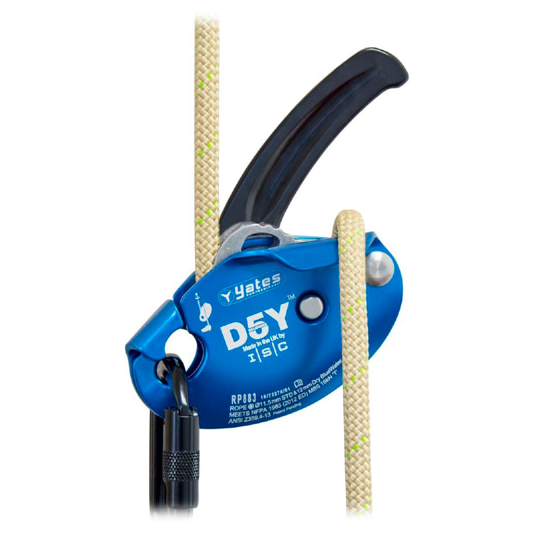 Yates ISCD5Y Descender/Belay Device Blue