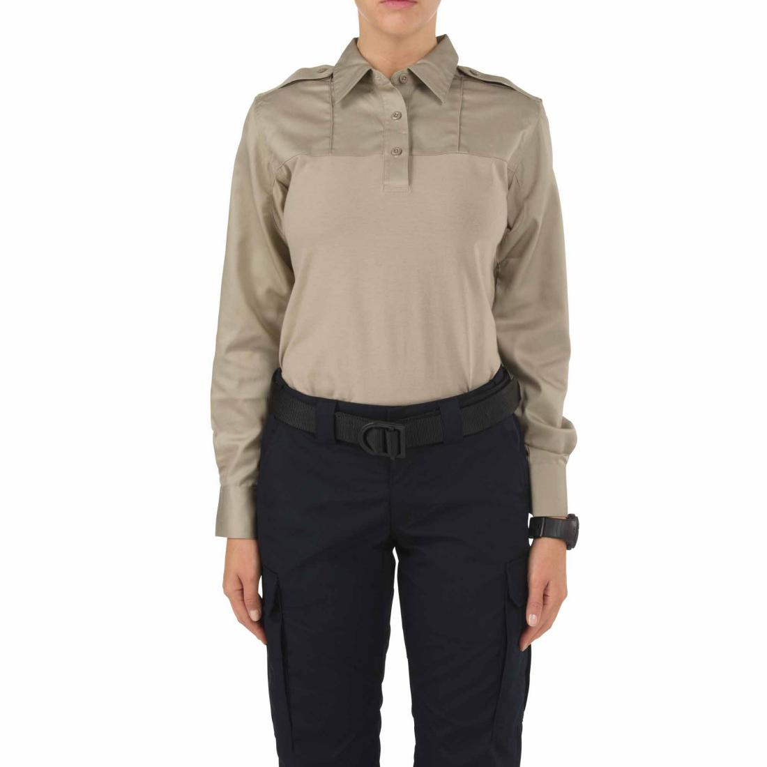 5.11 Tactical 62372 Women's Rapid PDU Long Sleeve Shirt Silver Tan
