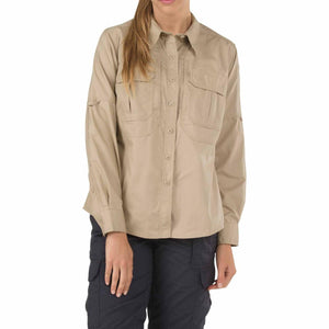 5.11 Tactical 62070 Women's Taclite Pro Long Sleeve Shirt TDU Khaki