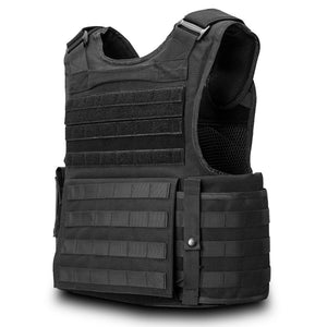 SecPro Gladiator Tactical Vest Level IIIA - Black (Rear)