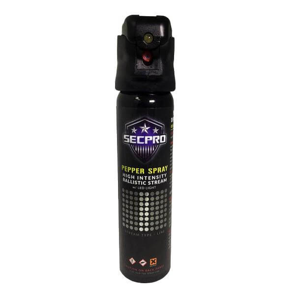 SecPro Advanced Police Strength OC Pepper Spray w/ Lighted Ballistic Stream (Level III) - 4 oz.