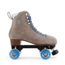 BTFL Tony Pro Genuine Suede Artistic Grey taupe roller skate available at BTFLStore.com Sanded front face 80a wheels