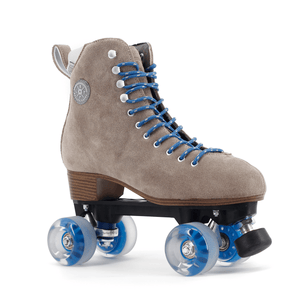 BTFL Tony Pro Genuine Suede Artistic Grey taupe roller skate available at BTFLStore.com