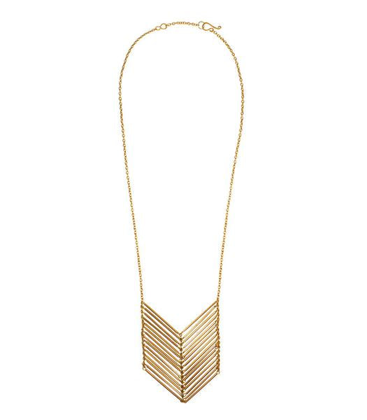 Chevron Waterfall Necklace - Lyla Taylor Boutique