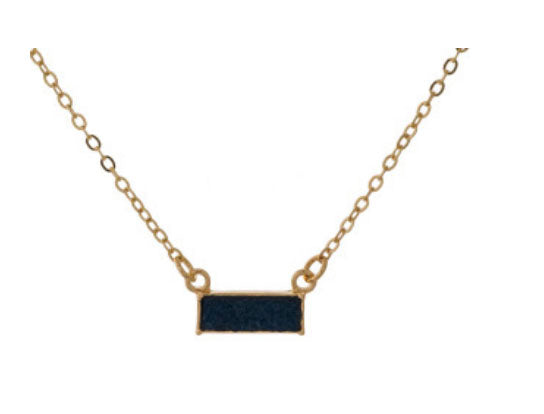 Bar Necklace - Black
