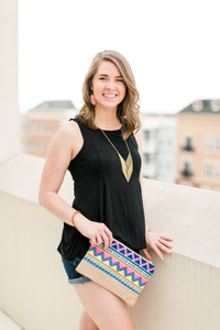 Tribal Print Clutch - Lyla Taylor Boutique