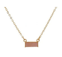 Bar Necklace - Pink