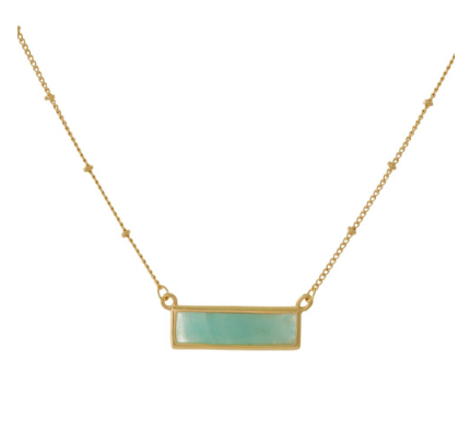 Summer Nights Turquoise and Gold Bar Necklace - Lyla Taylor Boutique