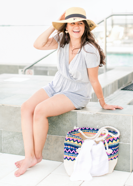 Tribal Canvas Beach Tote - Lyla Taylor Boutique