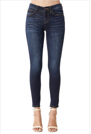Perfect Day Mid Rise Skinny Jeans - Lyla Taylor Boutique