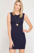 Spring Date Nights Navy Bodycon Dress