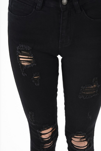 Black Distressed Jeans