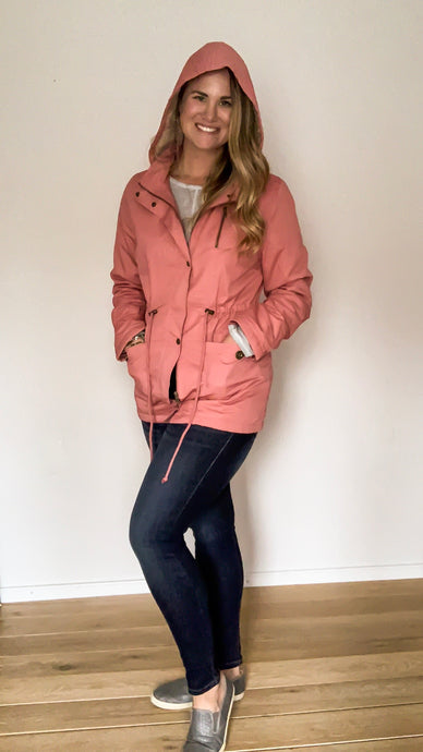 Winter Sleigh Ride Blush Parka - Lyla Taylor Boutique