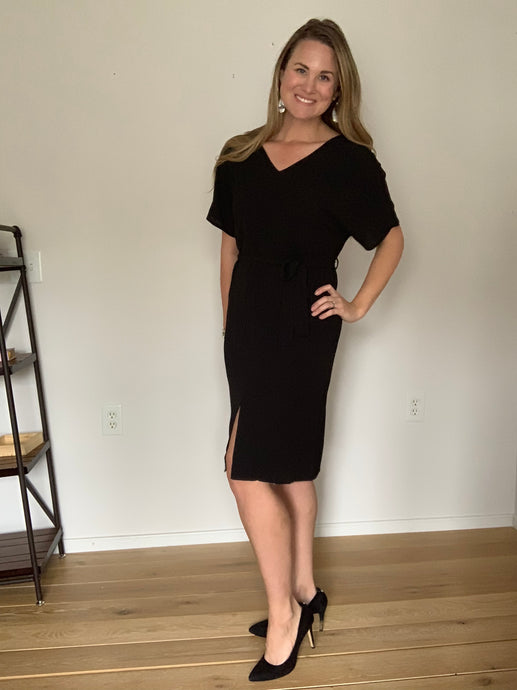 Show Stopper Little Black Dress - Lyla Taylor Boutique