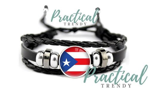 Puerto Rico Three Layer Leather Bracelet