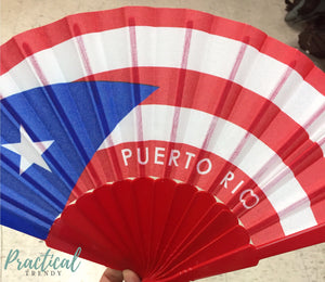 Puerto Rico Red Hand Fan