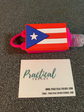 Puerto Rican Flag Hand Sanitizer Holder