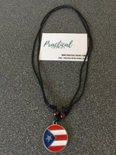 Puerto Rican Flag Pendant Necklace