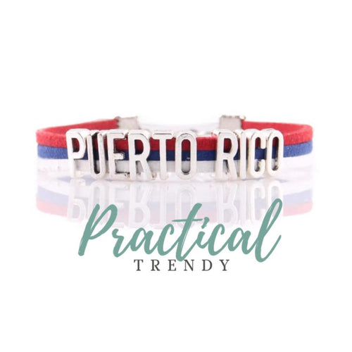 Puerto Rico Flag Colors Bracelet