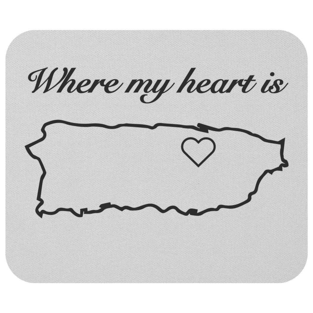 Where my heart is - Mousepad
