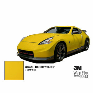 3M 1080 SCOTCHPRINT GLOSS BRIGHT YELLOW VINYL WRAP | G15