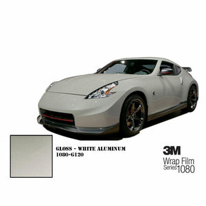 3M 1080 SCOTCHPRINT GLOSS WHITE ALUMINUM VINYL WRAP | G120