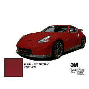 3M 1080 SCOTCHPRINT GLOSS RED METALLIC VINYL WRAP | G203