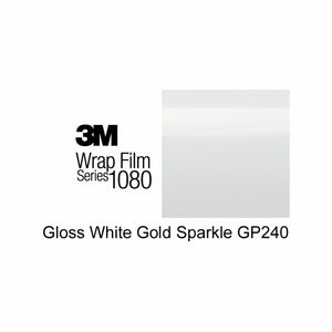 3M 1080 SCOTCHPRINT GLOSS WHITE GOLD SPARKLE VINYL WRAP | GP240