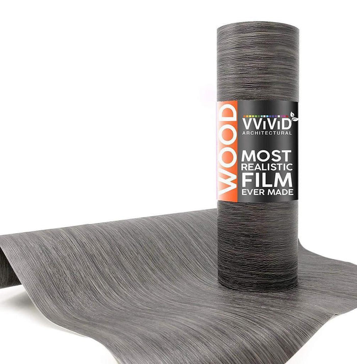 VVIVID VINYL DARK GRAY VINTAGE WOOD ARCHITECTURAL FILM - V138