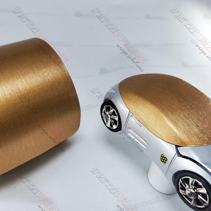 AVERY DENNISON SW900 SUPREME BRUSHED BRONZE METALLIC VINYL WRAP | SW900-933-X
