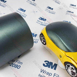 3M 1080 SCOTCHPRINT MATTE METALLIC PINE GREEN VINYL WRAP | M206