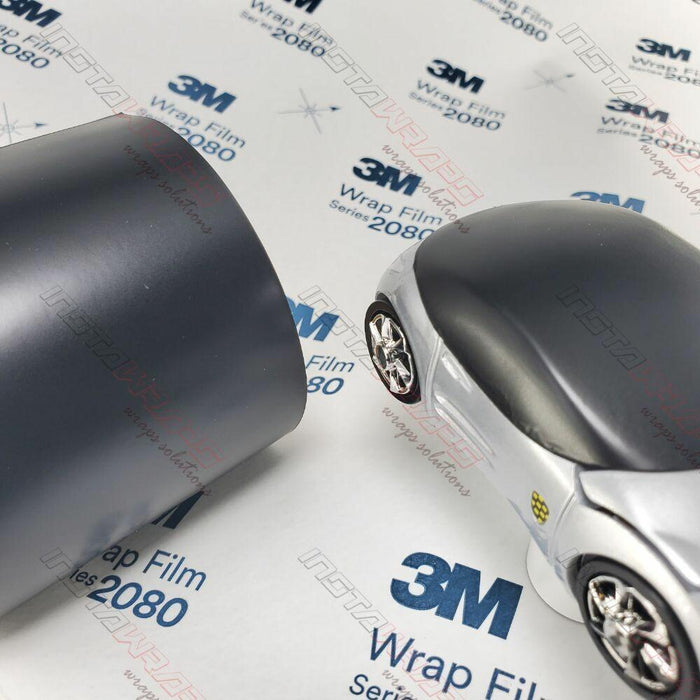 1//2ft x 5ft 3M 1080 Satin Black Air-Release Vinyl Wrap Roll