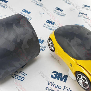 3M 1080 SCOTCHPRINT SHADOW BLACK TEXTURED VINYL WRAP | SB12