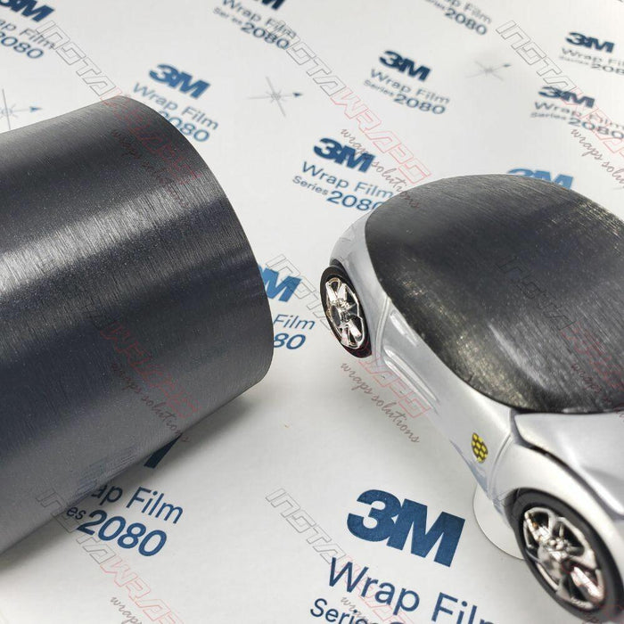 3M 1080 SCOTCHPRINT BRUSHED BLACK METALLIC VINYL FLEX WRAP | BR212