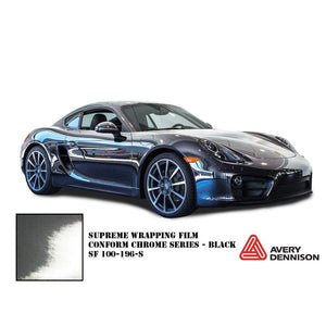 AVERY BLACK CONFORM CHROME FLEXIBLE VINYL WRAP FILM | SF100-196-S