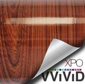 VVIVID GLOSS RED CEDAR WOOD GRAIN Wrap Vinyl Vvivid Vinyl