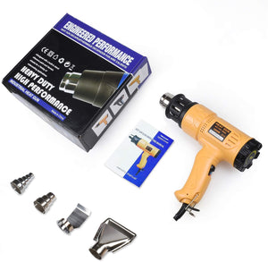 SEEKONE HEAT GUN | 1800W | 2-TEMP SETTING WITH OVERLOAD PROTECTION FOR CAR WRAPPING - VARIABLE TEMPERATURE CONTROL