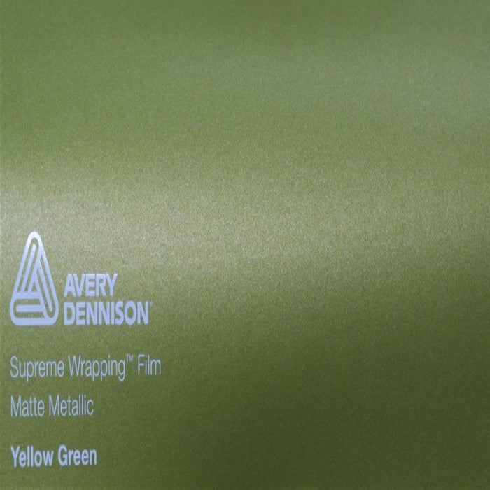 AVERY DENNISON SW900 SUPREME MATTE YELLOW GREEN METALLIC VINYL WRAP | SW900-243-M
