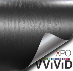VVIVID VINYL STEALTH BLACK ASH WOOD GRAIN ARCHITECTURAL FILM