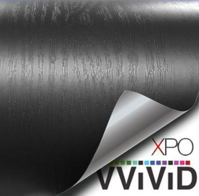 VVIVID VINYL STEALTH BLACK ASH WOOD GRAIN ARCHITECTURAL FILM - V125