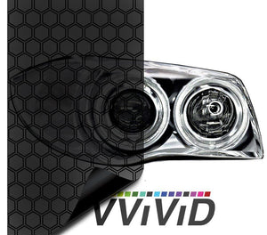 VVIVID VINYL 2019 HEX+ DARK SMOKE AIR-TINT HEADLIGHT TINT