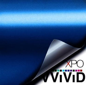 VVIVID SATIN CHROME BLUE Wrap Vinyl Vvivid Vinyl