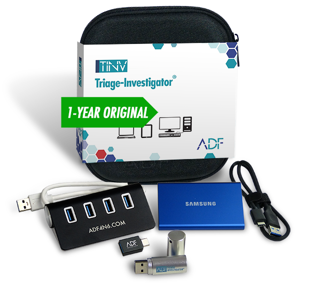 Triage-Investigator Digital Forensic Kit with Authentication Key, External Hard Drive and 4 Port Hub